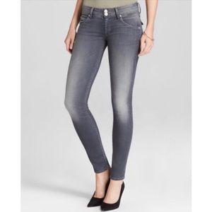 Hudson Collin Skinny Ankle Triangle Pocket Jeans